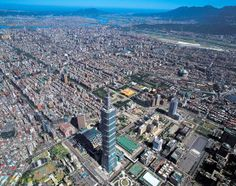 Aerial view of Taipei City