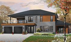 Plan de Maison multi logements W3046,  dessinsdrummond drummonddesigns drummondhouseplans, house inspiration, home, maison, luxury, contemporain, zen, big family, garage, space, rangement, storage, luxueux, beautiful