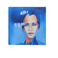 Blue eyed girl Blue Eyed Girls, Blue Eyes, Wall Art, Painting, Painting Art, Paintings, Painted Canvas, Drawings, Wall Decor