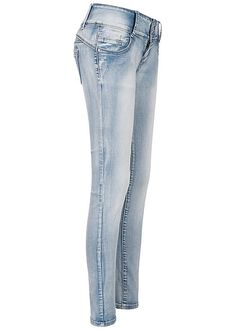 Styleboom Fashion Damen Basic Capri Hose 2 Taschen navy blau