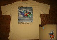 Vtg JIMMY BUFFETT Margaritaville Key West 1998 T-SHIRT-XL-wish/weather/beautiful