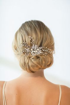 Wedding Hair Comb Wedding Hair Accessory by PowderBlueBijoux