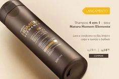 Boa noite, vejam só este lançamento shampo Homem Elemento para todos os tipos de cabelos função 4 em 1.