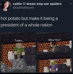 Stupid Funny Memes, Funny Relatable Memes, Minecraft Fan Art, Minecraft Stuff, Nostalgia, Dream Friends, Lol, Just Dream, Coping Mechanisms