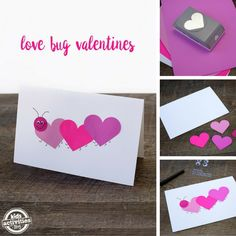 DIY Easy & Simple Love Bug Valentine's Day Cards