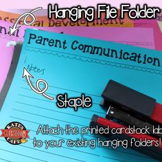 attaching your printable file tabs to your file folders for a more organized file cabinet