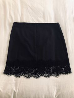 -zips in back -tag says Large but fits more like a medium -Waist measures 16 lying flat and length is lying flat -Pristine condition, no holes or stains, non-smoking home Pretty Outfits, Cool Outfits, Summer Outfits, Fashion Outfits, Aesthetic Fashion, Aesthetic Clothes, Estilo Dark, Lace Trim Skirts, Diy Clothes