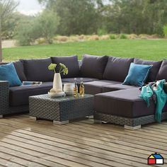 Juego de aluminio ratán PE #Terraza #Jardin | decoracion | Pinterest ...