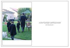 Niños en chaquet en boda
