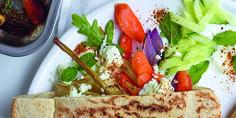 Pita met gegrilde groenten