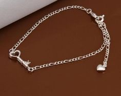 Women Jewelry 925 Sterling Silver Plated Sexy Anklet Ankle Chain Foot Bracelet See more details. Charm Jewelry, Jewelry Sets, Silver Jewelry, Women Jewelry, Foot Bracelet, Anklet Bracelet, Key Bracelet, Bracelets, Ankle Jewelry