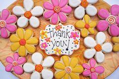 images of thank you cookies Leaf Cookies, Flower Cookies, Iced Cookies, Cute Cookies, Sugar Cookies, Cookies Et Biscuits, Fondant Cookies, Fancy Cookies, Baking Cookies