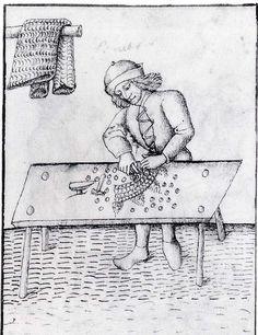 Salbürett (sarwürker, salwirt, salwürker, kettenhemdmacher, panzerhemdenmacher  (mail armor maker).