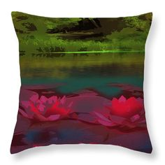 Waterlilies Throw Pillow - customize yours!
