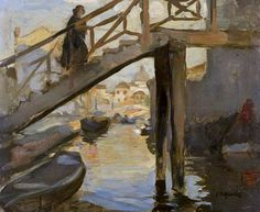 Charles Hodge Mackie Woman on a Bridge, Venice - The Largest Art reproductions Center In Our website. Low Wholesale Prices Great Pricing Quality Hand paintings for saleCharles Hodge Mackie Art Uk, Your Paintings, Large Art, Venetian, Art Reproductions, Art For Sale, Still Life, Venice, Portrait