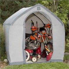 Flower House StorageHouse Walk-In Storage House, L Portable Storage Sheds, Storage Sheds For Sale, Outdoor Storage Sheds, Shed Storage, Garage Wall Storage, Overhead Garage Storage, Garage Organization, Umbrellas For Sale, Iron Patio Furniture