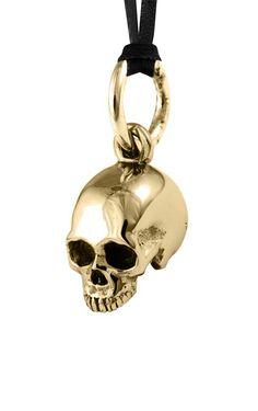 Alloy Small Hamlet Skull Pendant on Leather Cord #kingbaby #kingbabystudio…