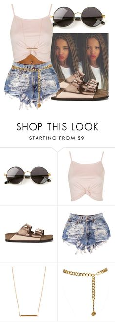 """""""~ Nude ~"""" by shalvankea ❤ liked on Polyvore featuring The Row, Topshop, Birkenstock, ASOS and Chanel"""