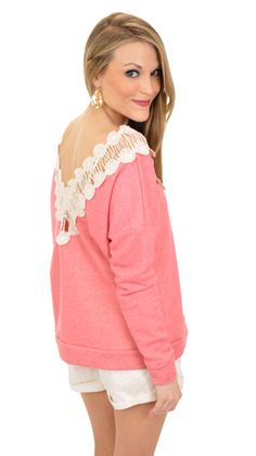 My Wish Sweatshirt, Coral :: NEW ARRIVALS :: The Blue Door Boutique