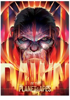 Dawn of the Planet of the Apes - fan-art poster design - 'Coronation of Cesar' by Orlando Arocena Dawn Of The Apes, Dawn Of The Planet, Planet Of The Apes, Fan Poster, Movie Poster Art, Cultura Pop, Art And Illustration, Portrait Illustration, Vector Illustrations