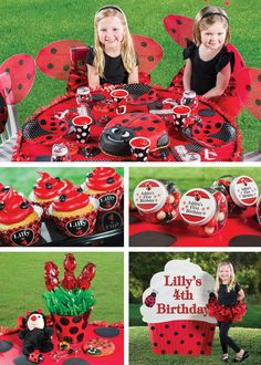 These adorable Ladybug Fancy Shaped Dinner Plates look like a ladybug in red and black with polka dots of black and white.