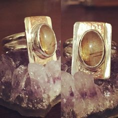 The Pirate & The Gypsy - That 70's Ring: Retro vintage feel sterling sliver floral band with set rainbow moonstone.