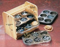 recycling muffin tins for storage
