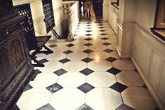 The chessboard floor