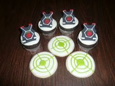 Laser Tag Cupcakes and Cookies