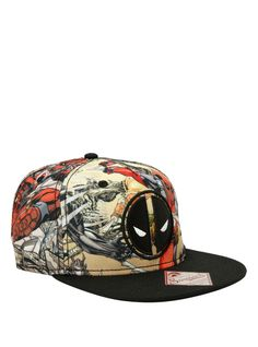 Snapback hat from Marvel's Deadpool with embroidered logo on front and sublimation print panels design. When Is My Birthday, Wolverine, Snapback Hats, Hot Topic, Thor, Marvel Comics, Cowboy Hats, Pop Culture, Spiderman