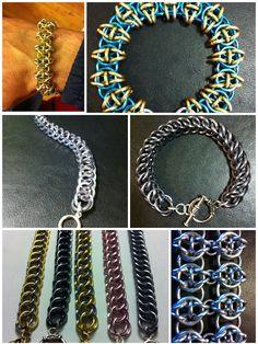 Bracelets, bracelets, bracelets... Group Pictures, Chainmaille, Crochet Necklace, Jewelry Design, Tutorials, Bracelets, Projects, Inspiration, Ideas