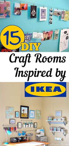 '15 DIY Craft Rooms Inspired by IKEA...!' (via My List of Lists)