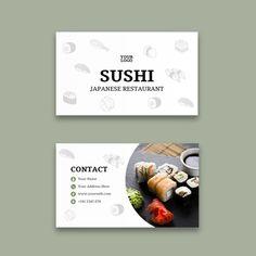 Ui Design Tutorial, Design Tutorials, Food Template, Templates, Restaurant Fish, Sushi Restaurants, Words Quotes, Business Cards, Fire