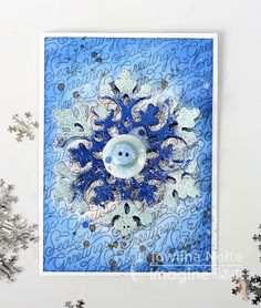 Double Emboss a Snowflake for a Holiday Card to Impress by Jowilna Nolte Every year I long for a white Christmas because I love the imagery of the snowflake! I created this little snowy holiday card using a beautiful snowflake.