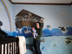 Baby Noah's Ark Mural I did for a friend