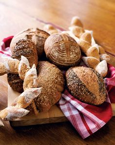 With just five minutes a day of effort, you can make superhealthy breads with nutritious whole grains, fruits, vegetables, nuts and seeds. Plus, you'll save big bucks on groceries. This article includes recipes for Free-form Whole Grain Artisan Loaf, Anadama Corn Bread, 10-Grain Bread, and Cinnamon Raisin Whole Wheat Bagels.data-pin-do=