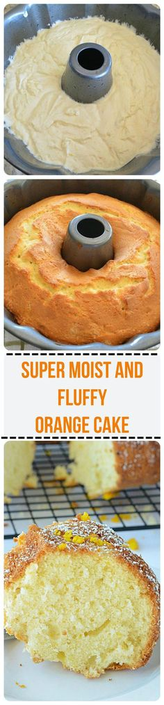 Orange Cake Recipe - Incredibly moist orange cake recipe bursting with citrus orange flavor and is soft and fluffy as a cloud!! http://ruchiskitchen.com