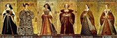The six wives of King Henry VIII: Catherine of Aragon, Anne Boleyn, Jane Seymour, Anne of Cleves, Katherine Howard & Catherine Parr. Catherine Parr, Catherine Of Aragon, Wives Of Henry Viii, King Henry Viii, Anne Of Cleves, Anne Boleyn, Tudor History, British History, London History