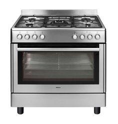 Piano de cuisson pas cher Auchan, achat BEKO Cuisinière gaz GM 15121 DX, 90 cm, 5 foyers, four multifonction Nettoyage catalyse, Inox prix promo Auchan 799.00 €