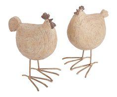 kippen van hars/papier mache