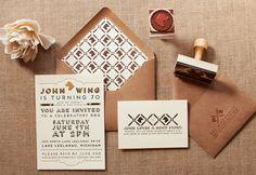 John Wing 70th Birthday Party Invitation