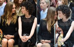 Cara Delevingne And St Vincent Sit On The Front Row | News | Grazia Daily