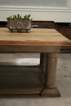 Restoration Hardware Knock f Balustrade Coffee Table