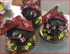 Chocolate Ester eggs . Birds House by Paolo Gariboldi Italy