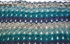 crocheted fan ripple afghan