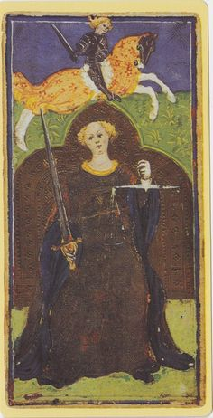 Strength -- Pierpont Morgan Visconti Sforza Tarocchi Deck, Italy, Milan, ca. 1450