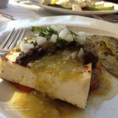 Grilled queso panela and nopal, from Fonda La Garufa in Condesa, Mexico City.