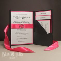 Loving this shade of pink and the simple elegance of the invitations.
