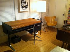 George Nelson Action Office 2 Roll Top Desk, via Flickr.