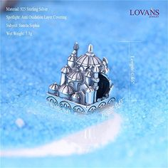 Lovan 925 Sterling Silver Charm Disney Land with Swarovski Crystal, Gift for Lover,Children, Friends (Disneyland): Amazon.ca: Jewelry